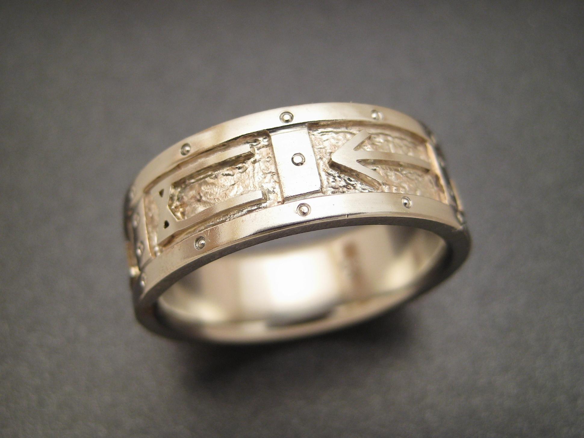 Norse Rune Wedding Ring Patrick Burt Sculpted Jewelry Designs