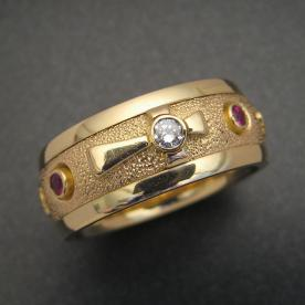 Gold Religious ring for Catholics