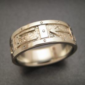 white gold custom-made wedding ring